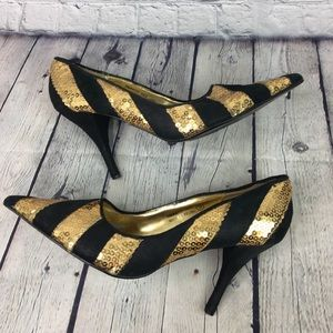 Naughty Monkey Sequence High Heels Size 9